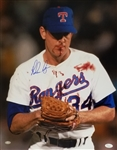 Nolan Ryan Signed Texas Rangers Bloody Face 16x20 Photo (JSA COA & Ryan Hologram)