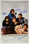 Estevez, Ringwald, Sheedy & Nelson Signed The Breakfast Club 11x17 Movie Poster Photo (Schwartz Sports COA)