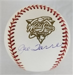 Joe Torre Signed Official 2000 World Series Baseball (JSA COA)