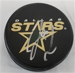 Loui Eriksson Signed Dallas Stars Logo Hockey Puck (JSA COA)