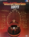 1977 Yankees World Series Champions Signed 16x20 Photo w/ 21 Signatures (PSA/DNA LOA)
