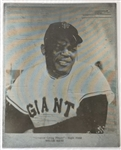 "Willie Mays ""Greatest Living Player"" San Francisco Giants 8.5x11 Metal Printing Plate"
