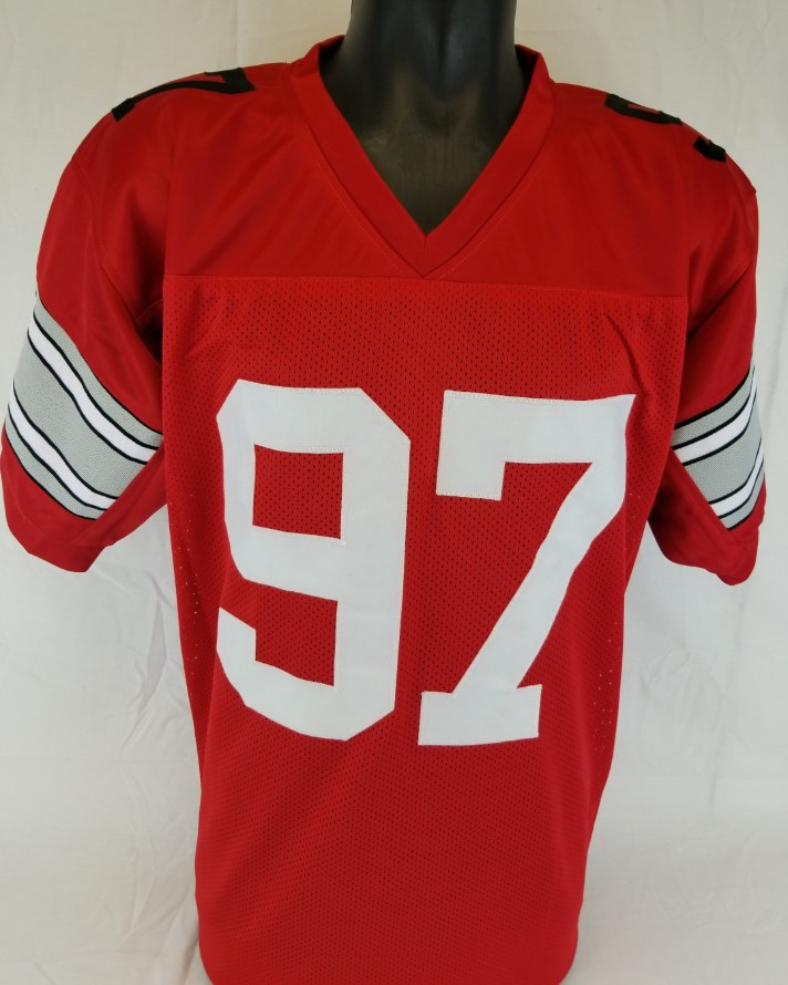 a902d2783 Nick Bosa Signed Ohio State Buckeyes Custom Jersey (JSA Signature Debut  COA). Hover to zoom. Prev Next