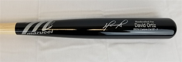 David Ortiz Signed Game Model Marucci D034 Custom Cut III Baseball Bat (MLB & Fanatics Certified)