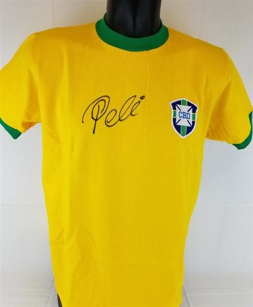 501c5ce5e4c Lot Detail - Pele Signed Brazil Soccer Jersey (PSA/DNA COA)