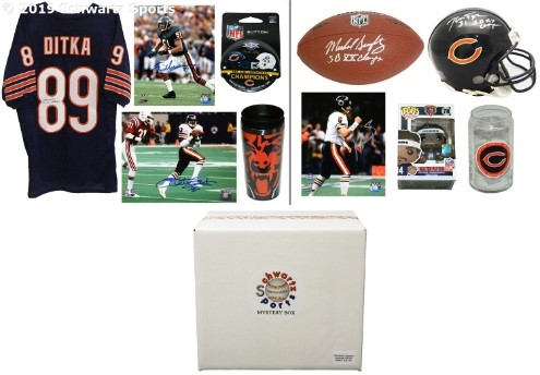 687e095819a 1985 Chicago Bears World Champs Mystery Autograph Gift Box - Series 3  (Limited to 50