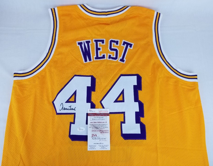 e14270ccb Jerry West Signed Los Angeles Lakers Custom Jersey (JSA Witness COA). Hover  to zoom. Prev Next