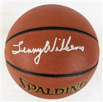 Lenny Wilkens Signed Spalding NBA Indoor/Outdoor Basketball (Schwartz Sports COA)