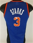 John Starks Signed Champion New York Knicks Youth Jersey (JSA COA)