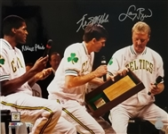 Larry Bird, Kevin McHale & Robert Parish Signed Celtics 16x20 Photo (Schwartz & Fanatics Certified)