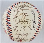 1997 NL All Star Team Signed Official AS Game Baseball w/ 35 Sigs Inc. Bonds, Maddux & Pedro (JSA LOA)