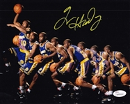 Tim Hardaway Signed Golden State Warriors 8x10 Photo (JSA Witness COA)