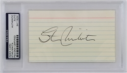 Stan Mikita (d. 2018) *Blackhawks Great* Signed 3x5 Index Card (PSA/DNA)