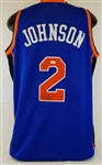 Larry Johnson Signed New York Knicks Custom Jersey (JSA COA)