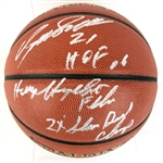 Dominique Wilkins Signed Spalding NBA I/O Basketball w/ 3 Inscriptions (Schwartz Sports COA)