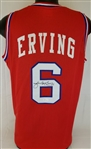 "Julius ""Dr. J"" Erving Signed Custom Red Jersey (JSA Witness COA)"