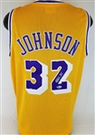 Magic Johnson Signed Los Angeles Custom Jersey (Beckett Witness COA)
