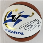 Antawn Jamison Signed Washington Wizards Logo Basketball (JSA COA)