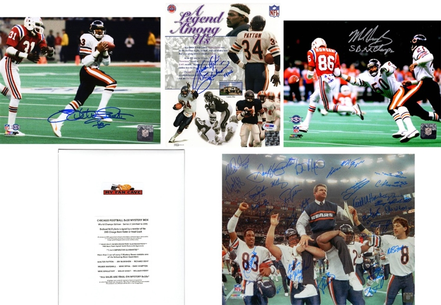 Chicago Bears Signed Mystery 8x10 Photo – World Champions Edition - Series 2 - (Limited to 234) *Walter Payton & 1985 Bears Team Photo Redemptions*