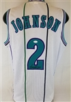 Larry Johnson Signed Grand Mama Custom Jersey (JSA COA)