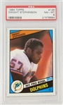 Dwight Stevenson Miami Dolphins 1984 Topps Football Card #129 - Graded NM-MT 8 (PSA)
