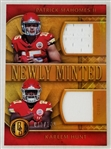 Patrick Mahomes & Kareem Hunt Chiefs 2017 Gold Standard Newly Minted Lmt. Ed Relic Rookie Card #4