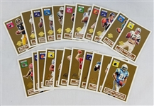 2005 Topps Turn Back the Clock Complete Set Football Cards #1-22