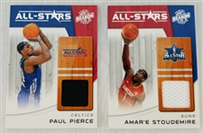 Lot of (2) 2010-11 Panini Season Update All-Star Materials Relic - Pierce and Stoudemire