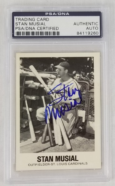 Lot Detail Stan Musial St Louis Cardinals Signed 1977