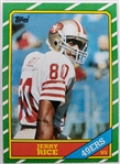 Jerry Rice San Francisco 49ers 1986 Topps Rookie Football Card #161