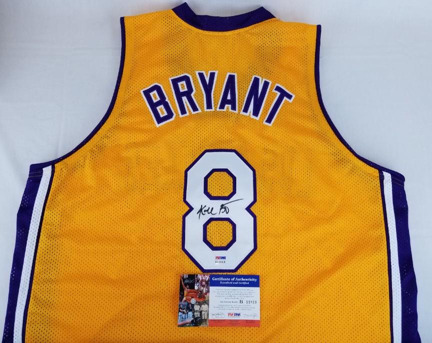4383ad154f9 Kobe Bryant Vintage Full Name Signature Signed Custom Jersey (PSA DNA COA).  Prev Next