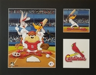 Warner Bros. St. Louis Cardinals Matted Lmt Ed. Lithograph
