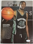 Kevin Durant Signed High School Slam Magazine Page (JSA COA)