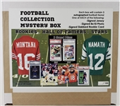 Football Collection Mystery Box - 3 Autographed Items Per Box - Signed Jersey, Signed 8x10 Photo & Signed Slabbed Rookie Card