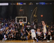 Stephen Curry Signed Golden State Warriors Game-Winning 3 Pointer 16x20 Photo (JSA COA) *Creased*