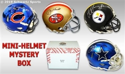 Football Superstar Signed Mystery Box Mini Helmet Series 11 (Limited to 50)