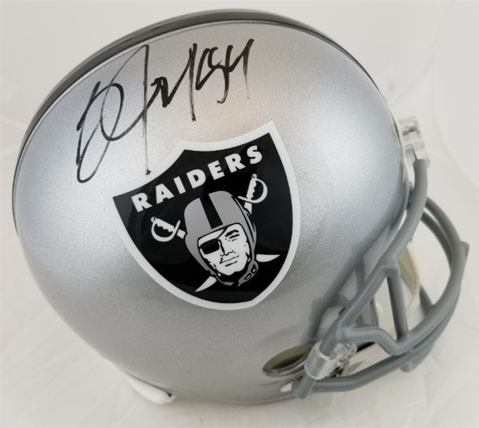Bo Jackson Signed Full Size Replica Oakland Raiders Helmet (Beckett Witness COA)