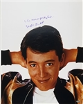 "Matthew Broderick ""Life Moves Pretty Fast"" Signed Ferris Buellers Day Off 16x20 Photo (Schwartz Sports COA)"