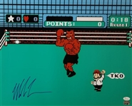 Mike Tyson Signed Nintendo Punch-Out 16x20 Boxing Photo (JSA COA)
