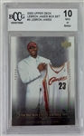 LeBron James Cleveland Cavaliers 2003 Upper Deck LeBron James Box Set #9 Rookie Card - Graded Mint or Better 10! (BCCG)