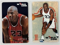 Lot of (2) Michael Jordan Chicago Bulls 1997 World Com Phone Cards