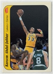 Kareem Abdul-Jabbar Los Angeles Lakers 1986 Fleer Stickers Card #1