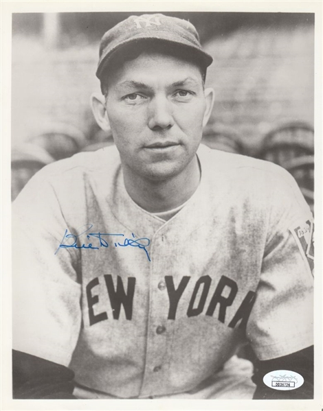 Bill Dickey Signed New York Yankees 8x10 B&W Photo (JSA COA)