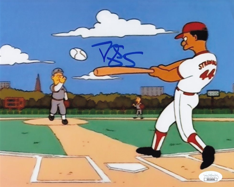 Darryl Strawberry Signed The Simpsons 8x10 Photo (JSA COA)