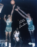 "Tom ""Satch"" Sanders Signed Boston Celtics 8x10 Photo w/ Bill Russell (Hollywood Collectibles COA)"