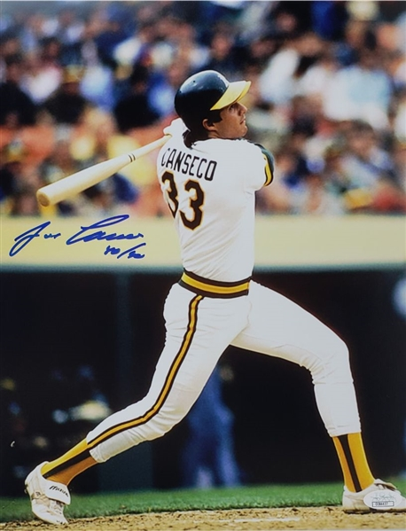 "Jose Canseco ""40/40"" Signed Oakland As 11x14 Photo (JSA COA)"