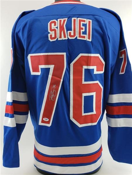 promo code 93406 44954 Lot Detail - Brady Skjei Signed New York Rangers Custom ...