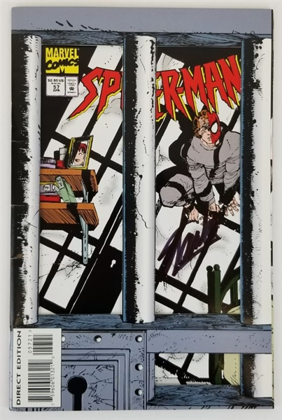 Stan Lee (d. 2018) Signed Marvel Comics Spider-Man Issue #57 Direct Edition Comic Book (JSA COA)