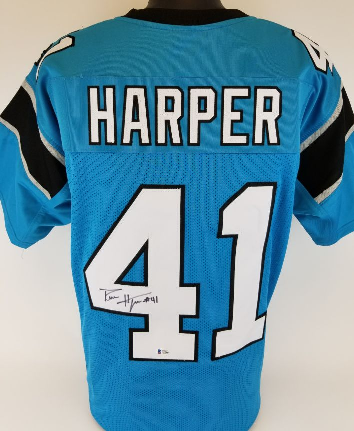 reputable site baa2e 27756 Lot Detail - Roman Harper Signed Carolina Panthers Custom ...
