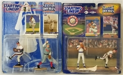 Lot of (2) Greg Maddux/Cy Young Starting Lineup Winning Pairs/Classic Doubles Figurine Sets